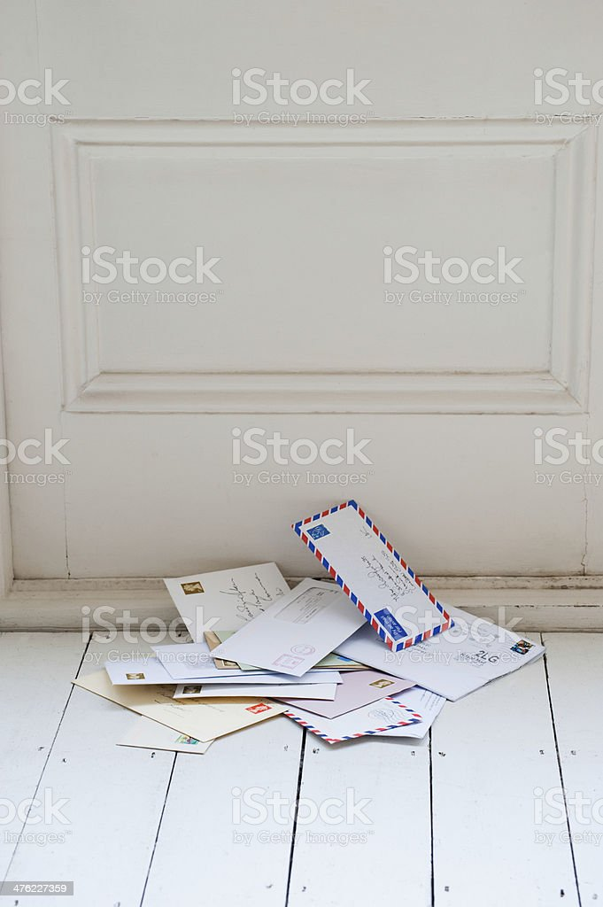 Letters On Floor stock photo