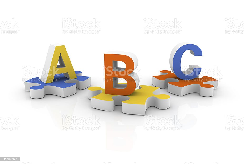 Letters on Jigsaw Pieces royalty-free stock photo