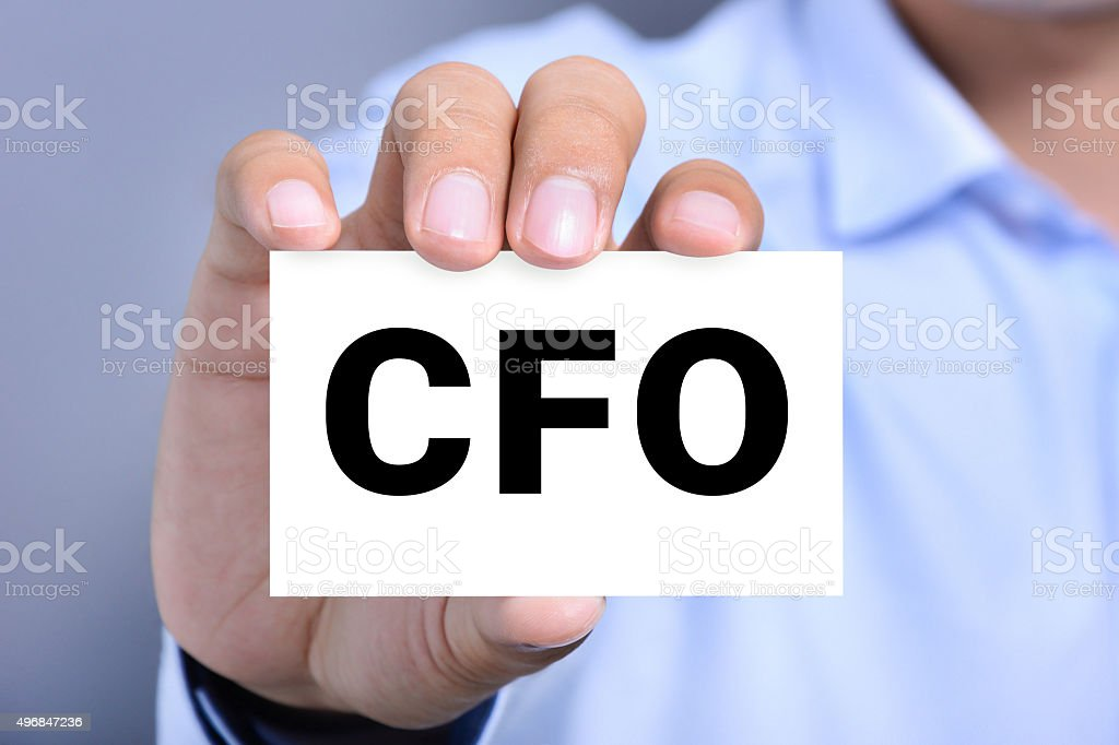 CFO letters (or Chief Financial Officer) on the card stock photo
