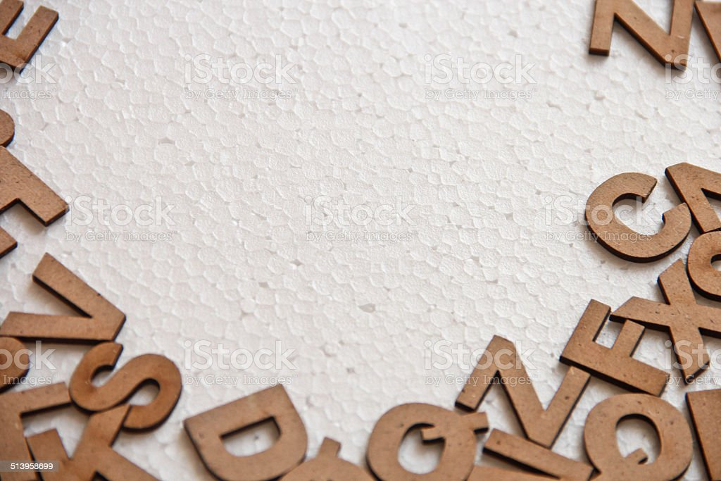 Letters on white stock photo