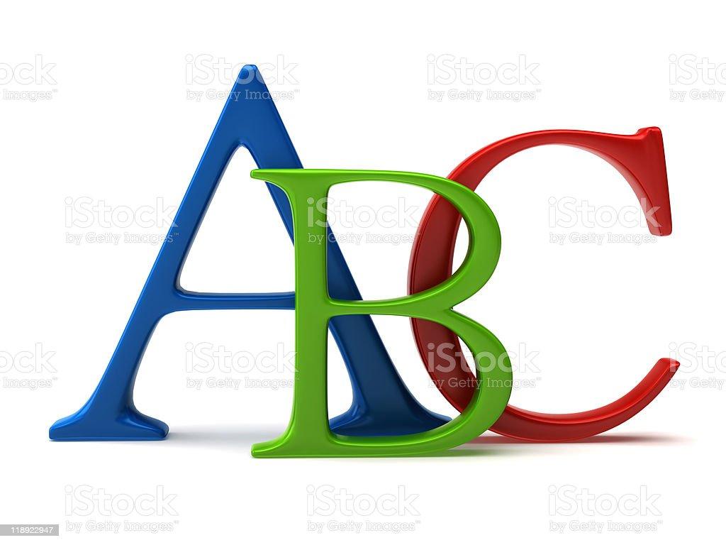 ABC letters stock photo