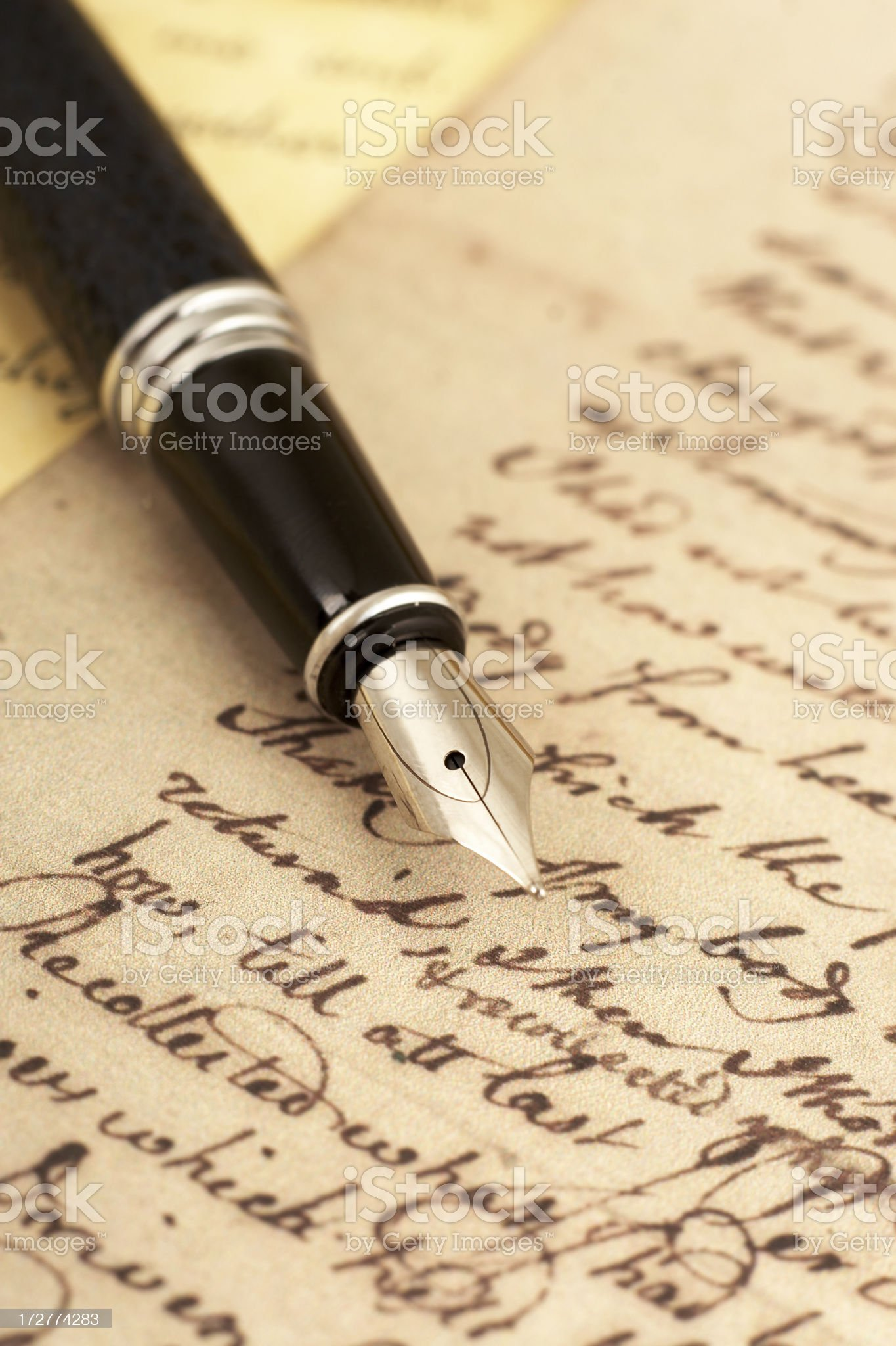 Letters royalty-free stock photo