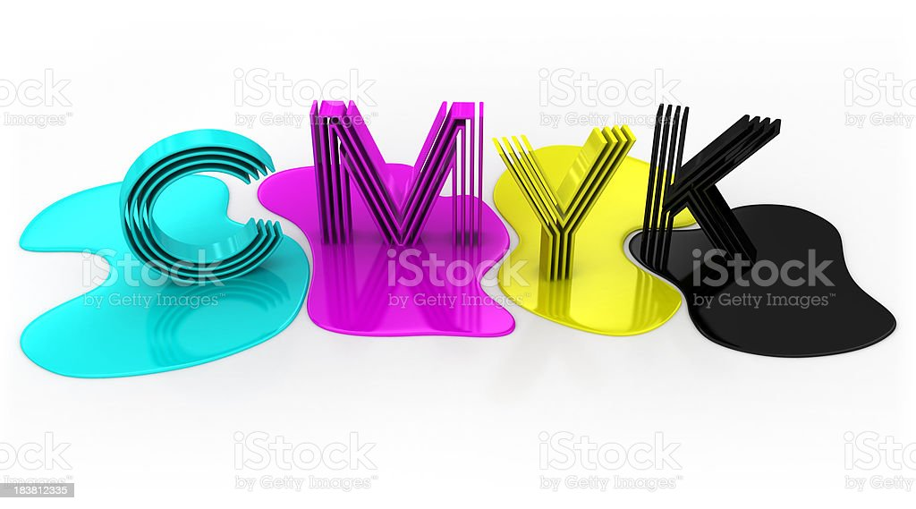 CMYK letters royalty-free stock photo