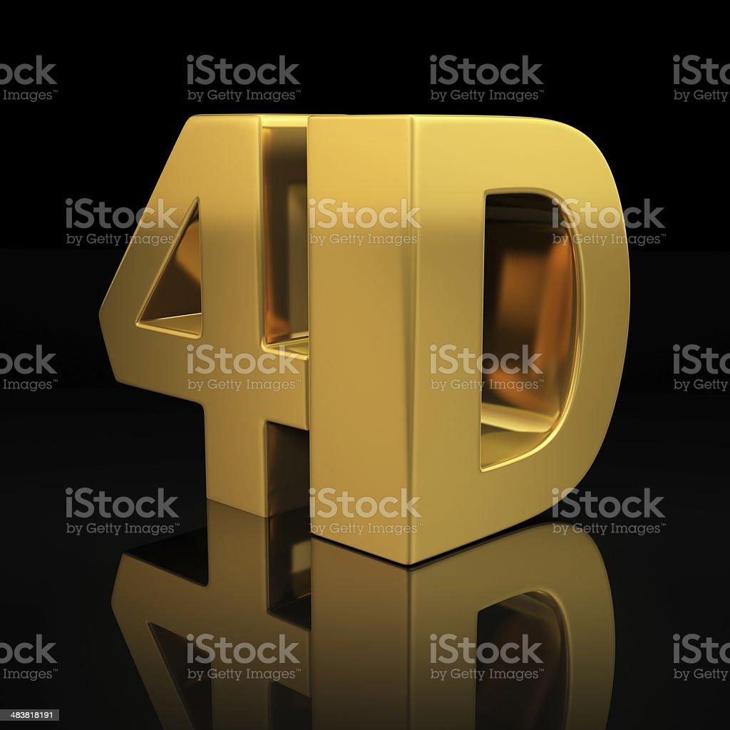 4D letters stock photo
