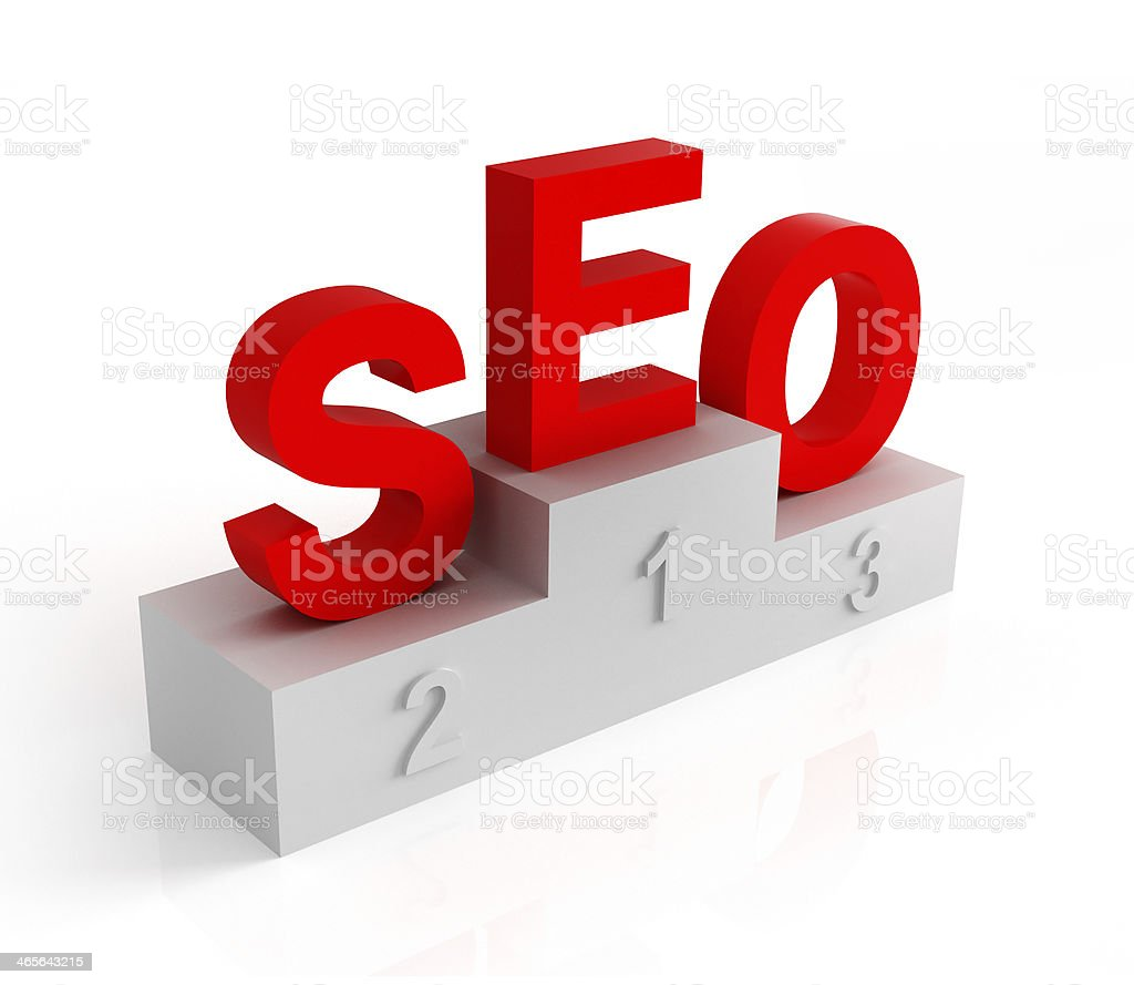 Letters SEO on the pedestal royalty-free stock photo