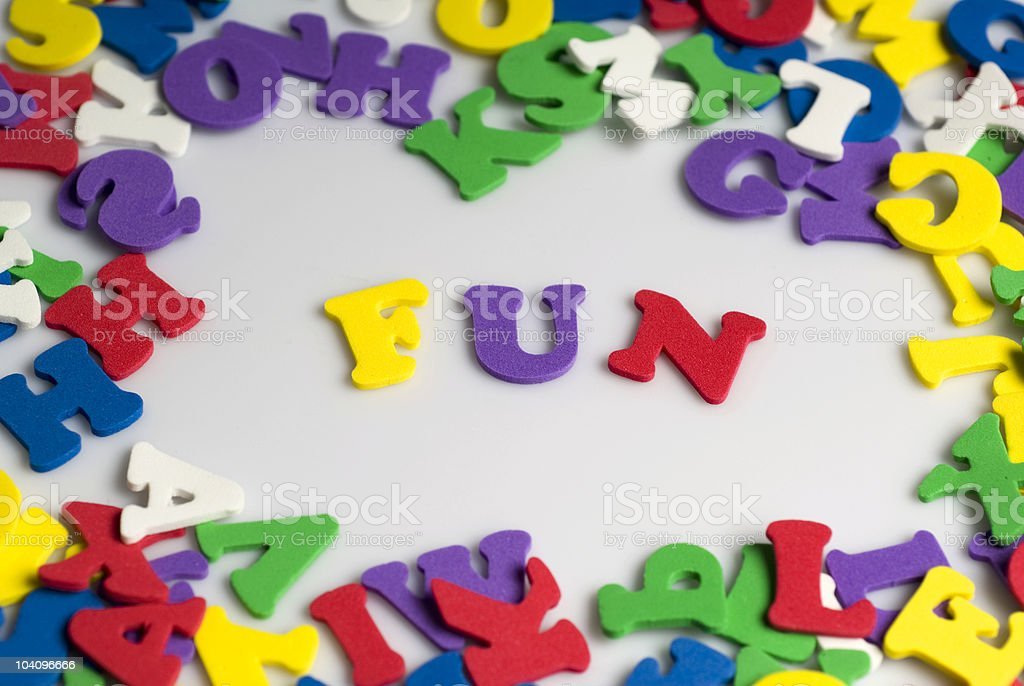 Letters spelling fun royalty-free stock photo