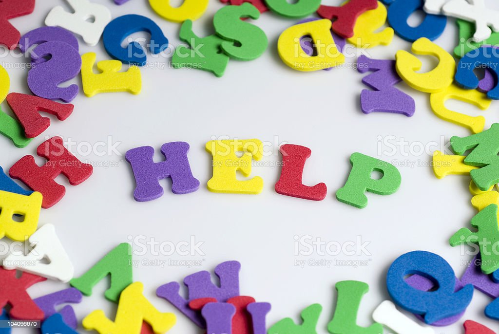 Letters spelling help royalty-free stock photo