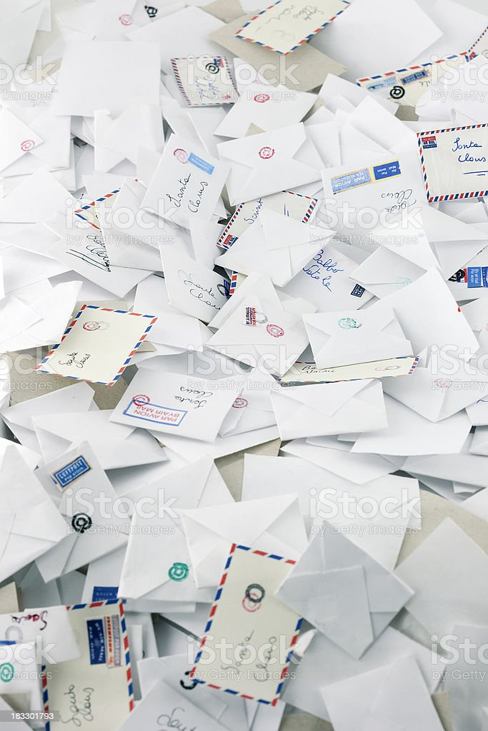 Letters to Santa Claus royalty-free stock photo