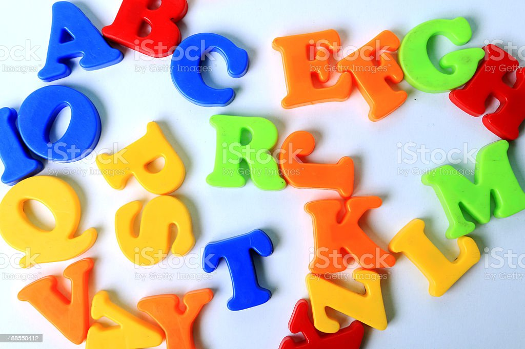 Letters toy stock photo