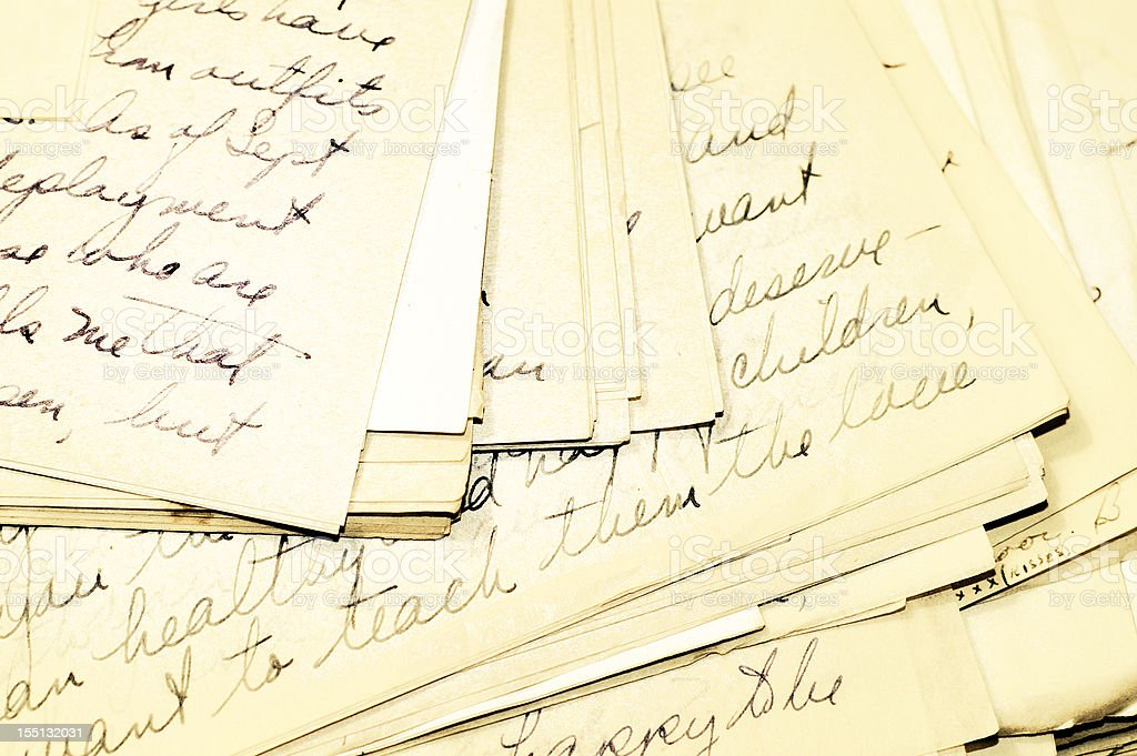Letters Two royalty-free stock photo