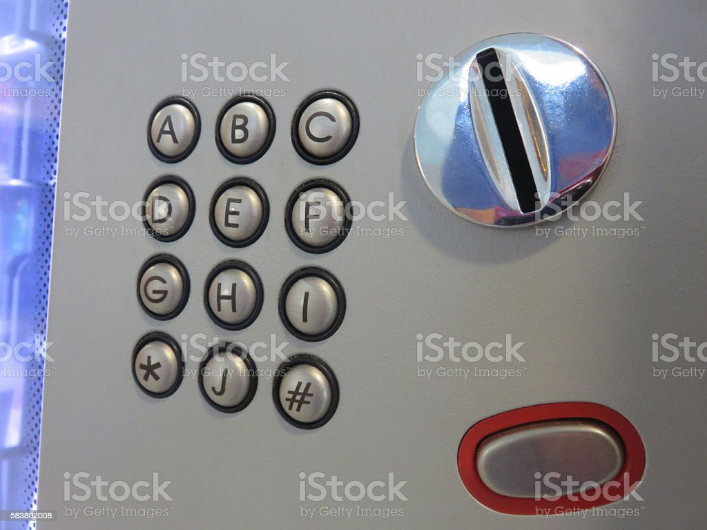 letters Vending machine stock photo