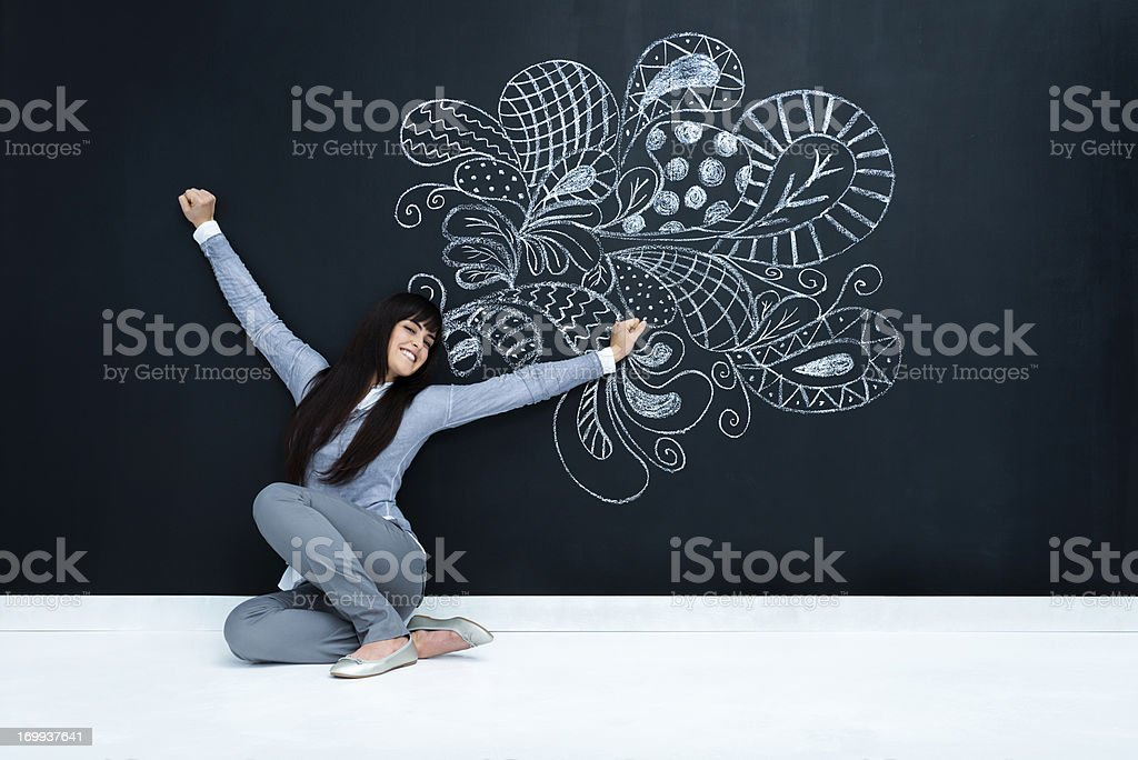 Letting fantasy fly royalty-free stock photo