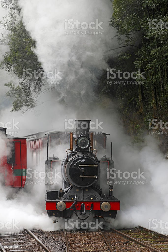 Letting Off Steam! stock photo