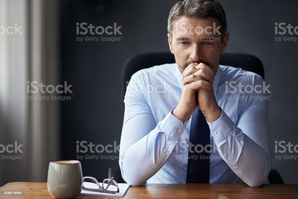 Letting the pressure get to him stock photo