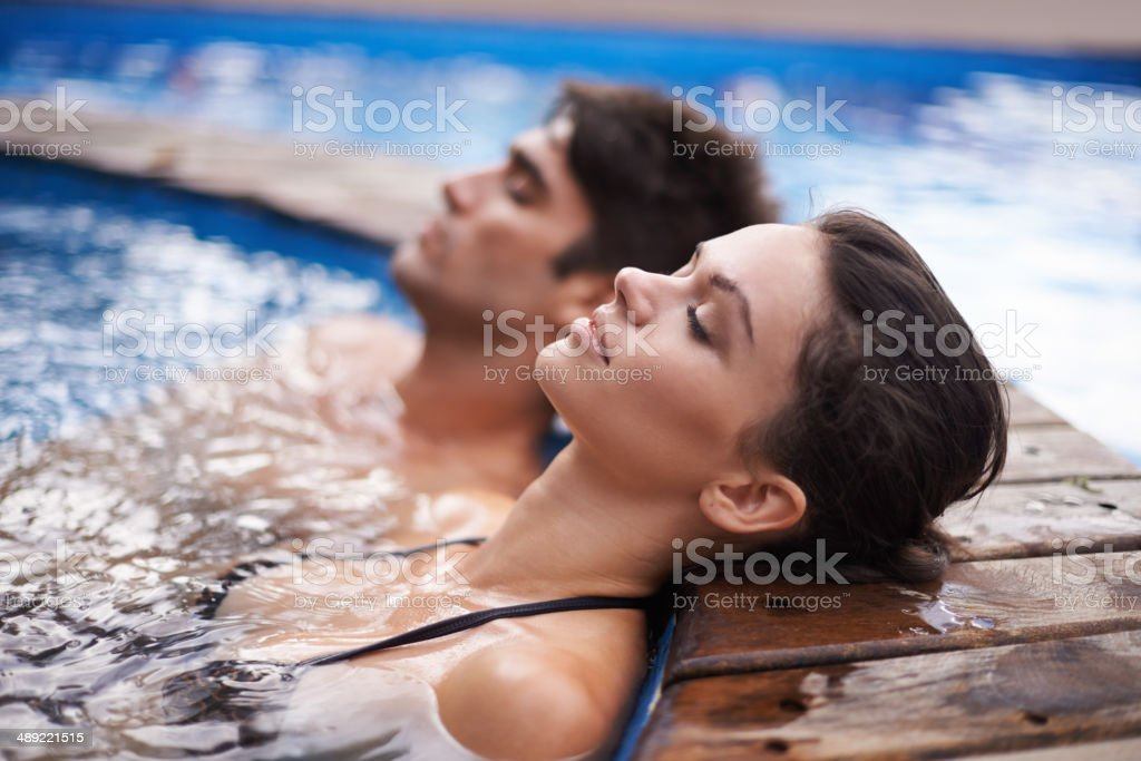 Letting their minds drift stock photo
