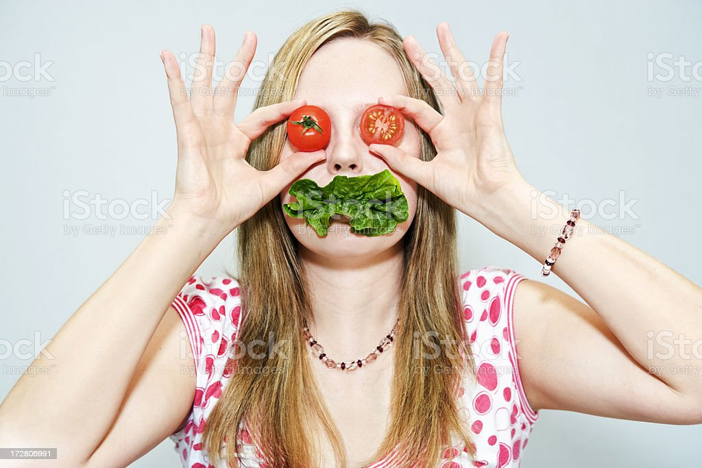 Lettuce Mouth stock photo
