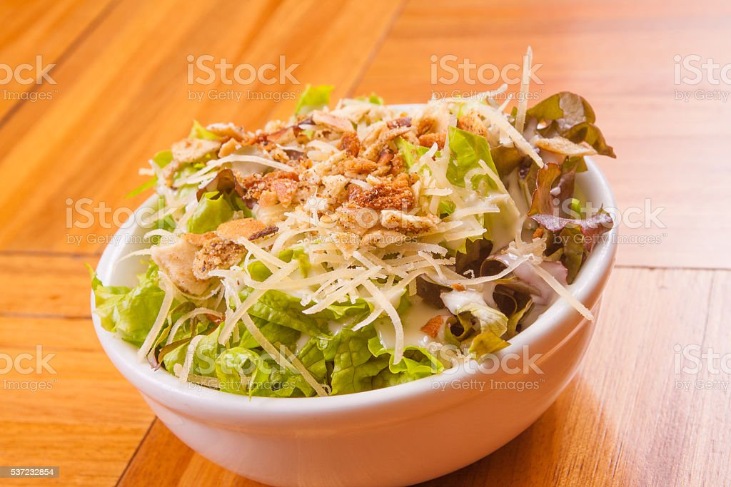 Lettuce Salad in the bowl stock photo