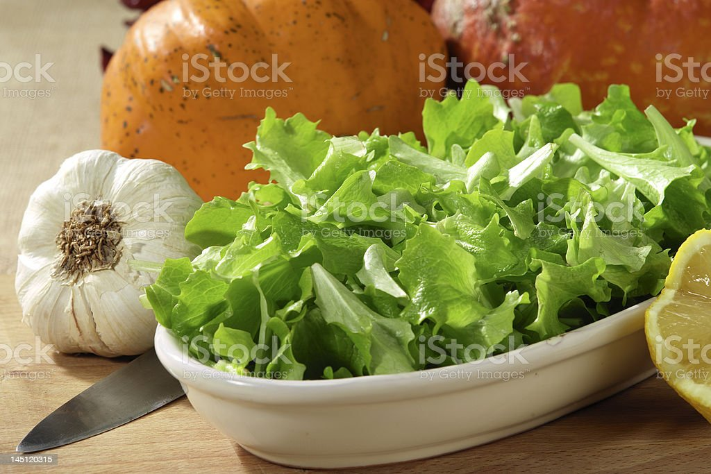 Lettuce salad royalty-free stock photo