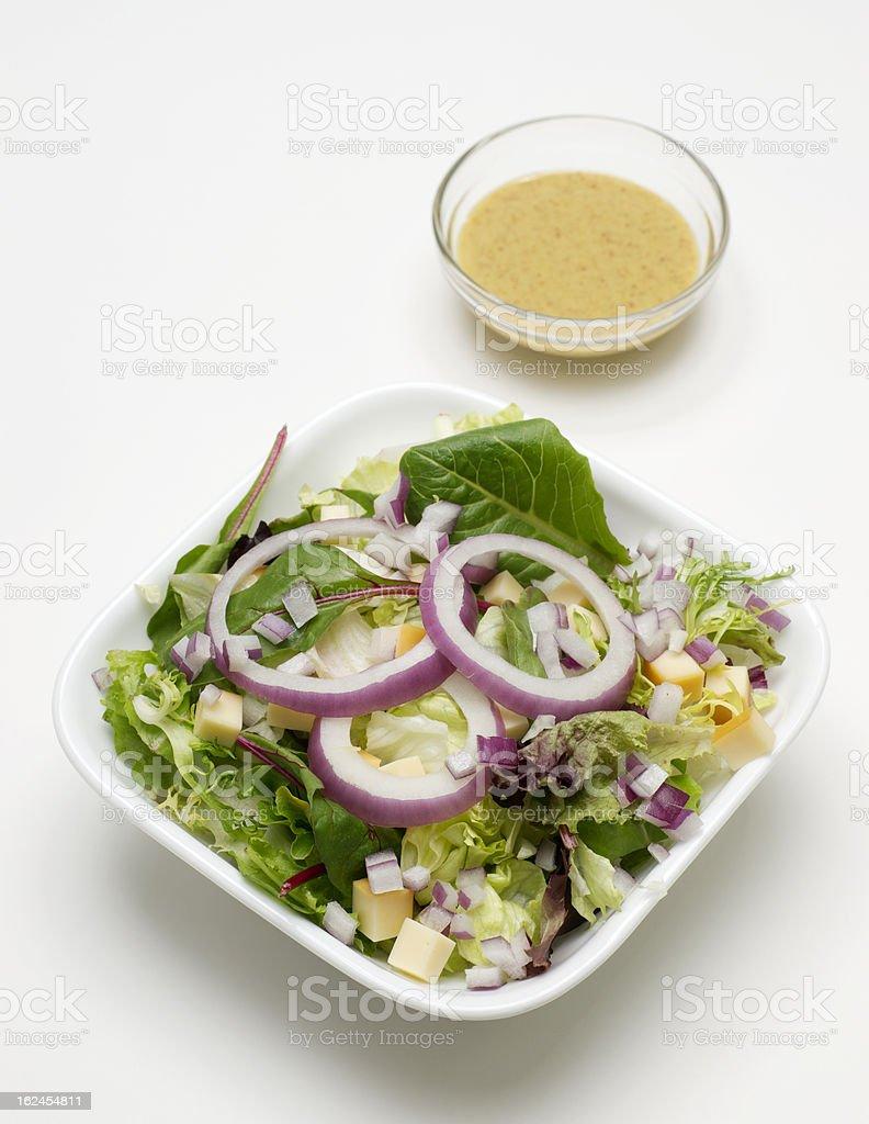Lettuce  Salad with Mustard Vinaigrette Dressing royalty-free stock photo