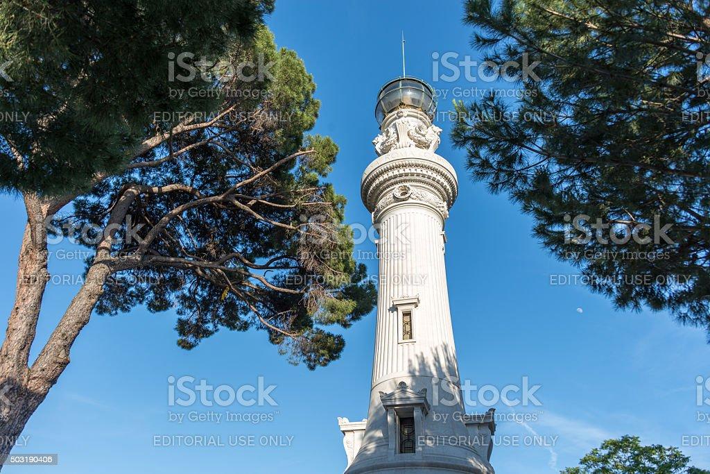 Leuchtturm Faro del Gianicolo in Rom stock photo