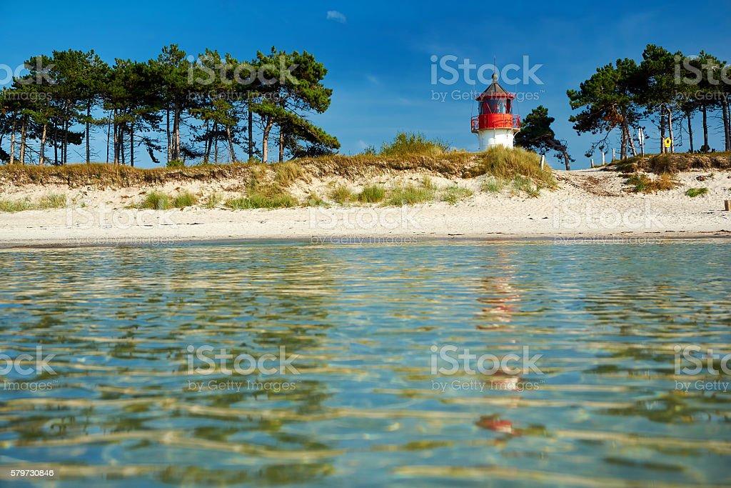 Leuchtturm Gellen auf Hiddensee stock photo