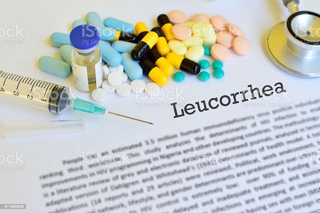 Leucorrhoea treatment stock photo