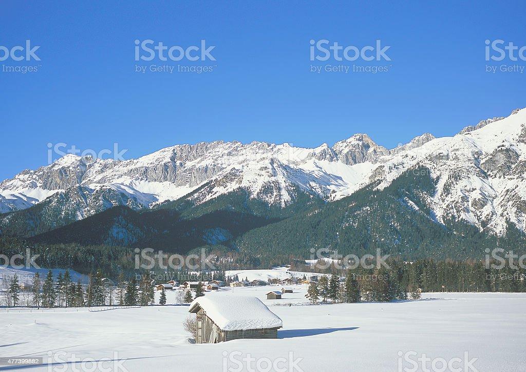 Leutasch,Seefeld,Tirol,Austria stock photo
