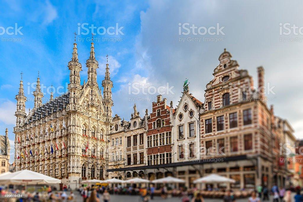 Leuven - Grote Markt & Town Hall, Belgium stock photo