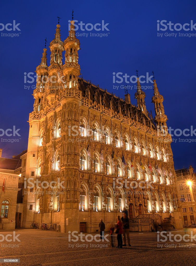 Leuven Town Hall, Belgium stock photo