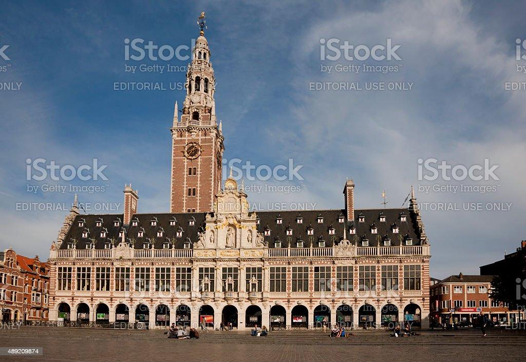 Leuven's University Library, Leuven, Belgium stock photo