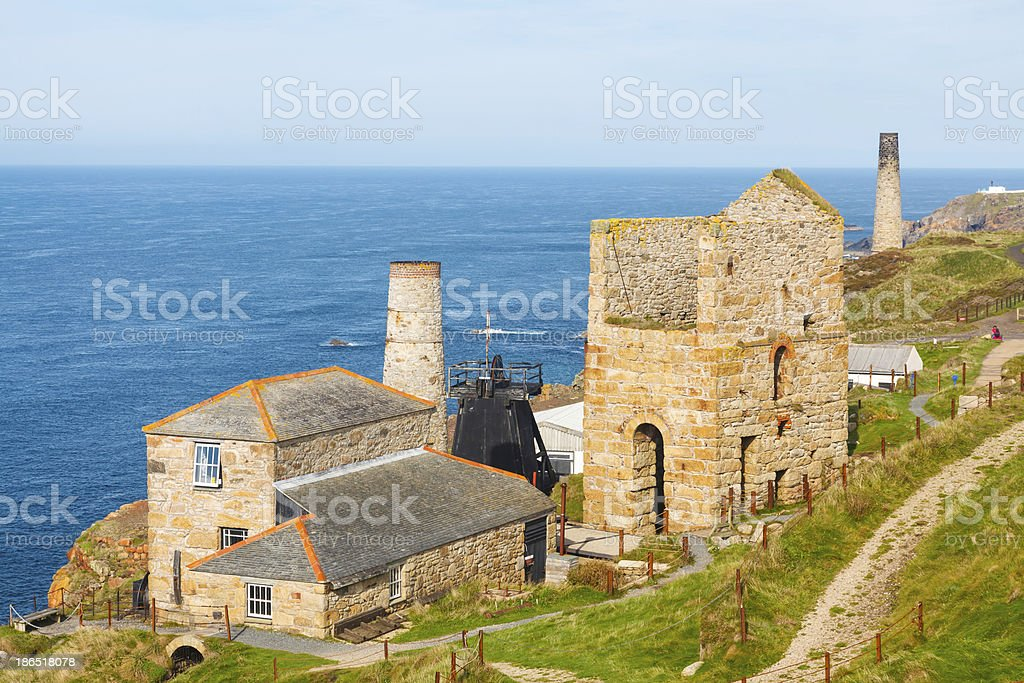 Levant Mine Cornwall England stock photo
