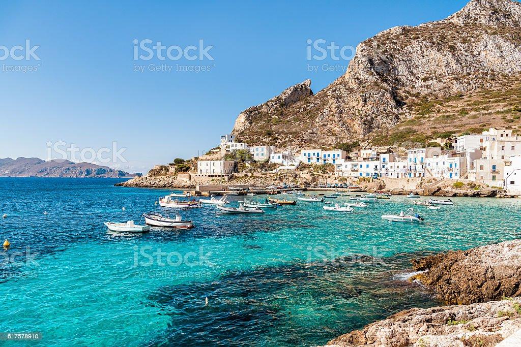 Levanzo island, Italy stock photo