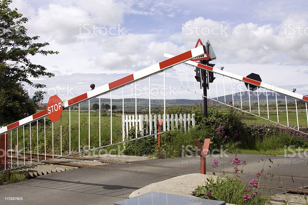 level crossing barrier royalty-free stock photo
