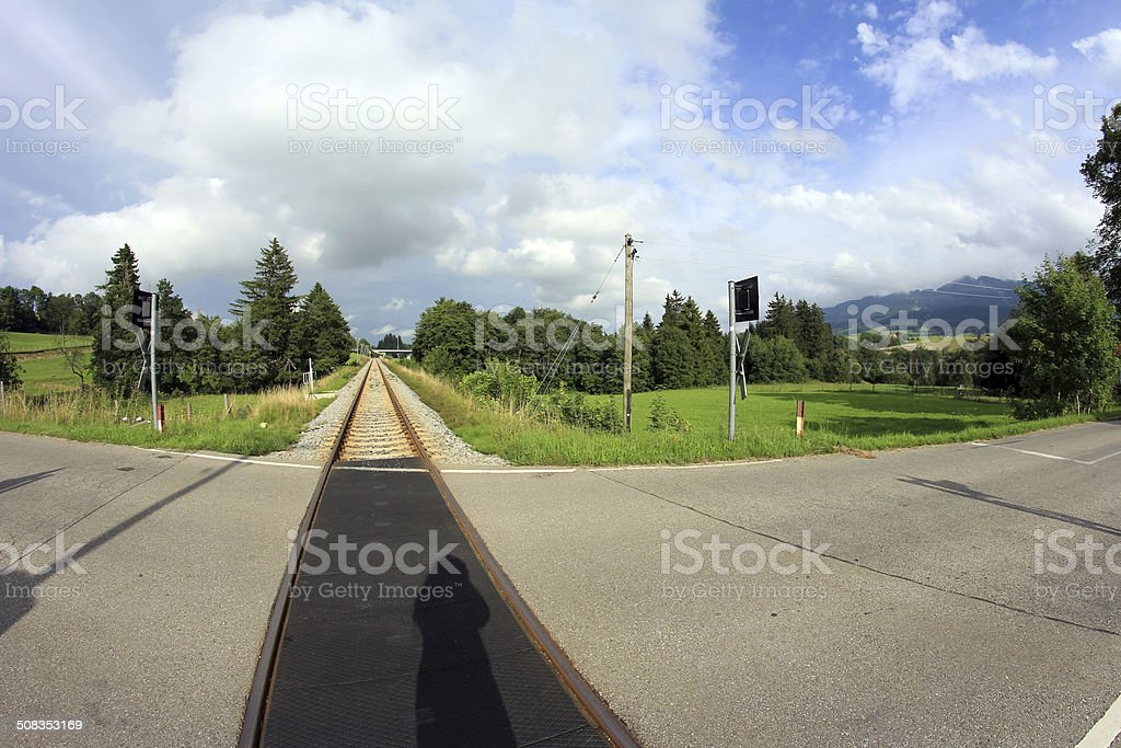 level crossing stock photo