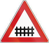 Level Crossing With Barrier in The Czech Republic