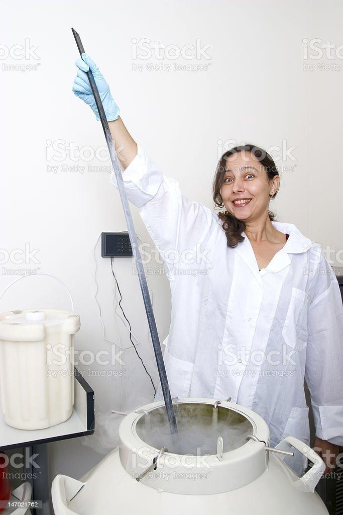 level dimension of liquid nitrogen royalty-free stock photo