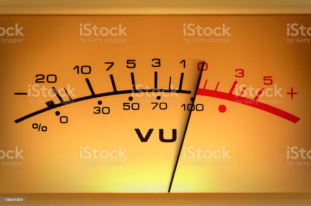 Level meter closeup stock photo
