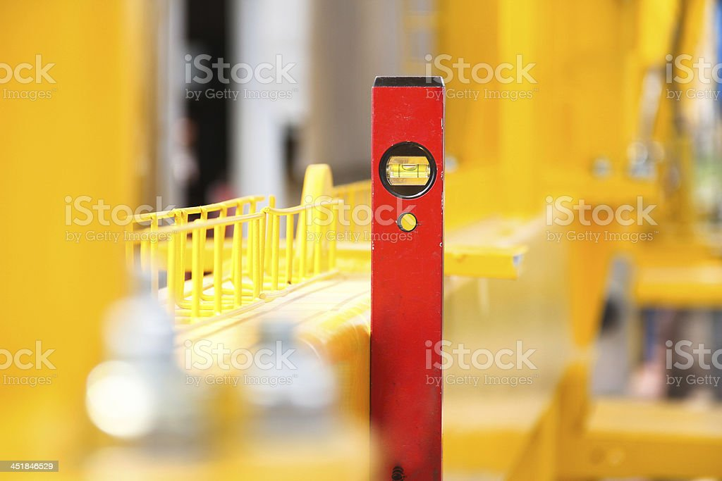 level meter on center royalty-free stock photo