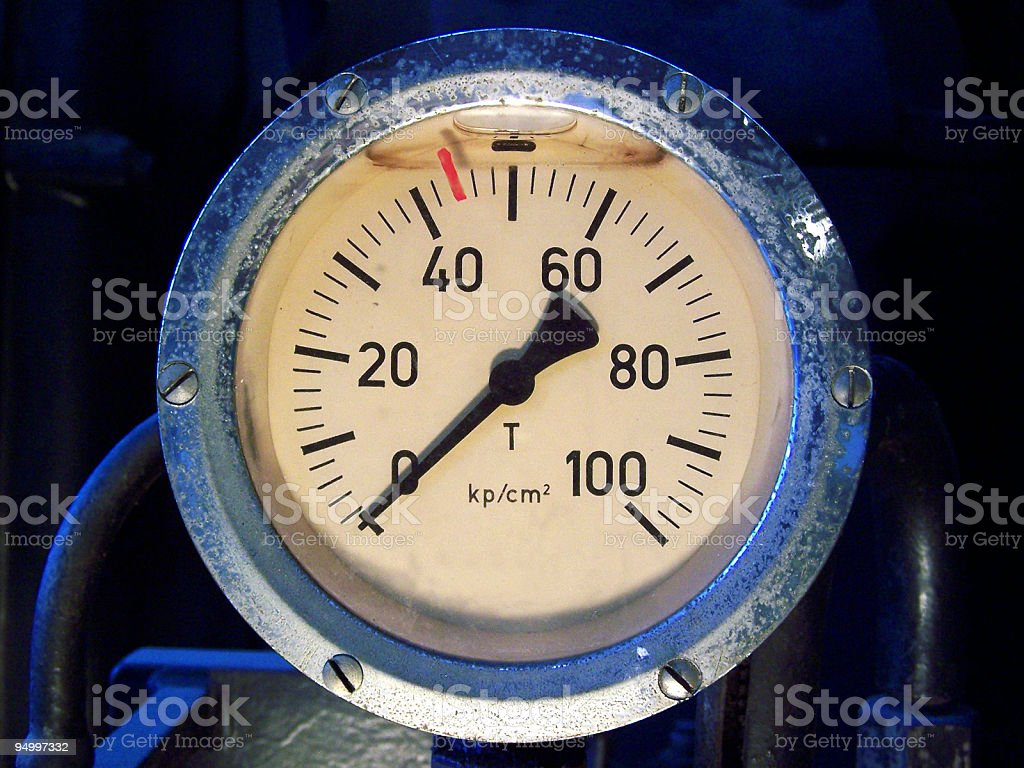 level of pressure stock photo