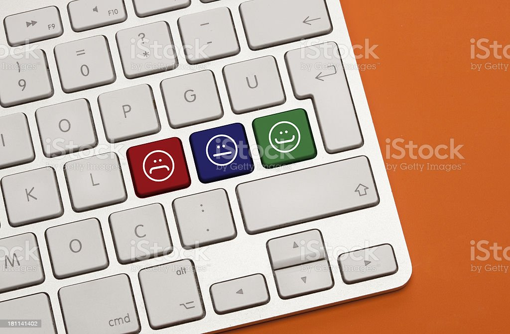 Level of Satisfaction Concept on Keyboard royalty-free stock photo