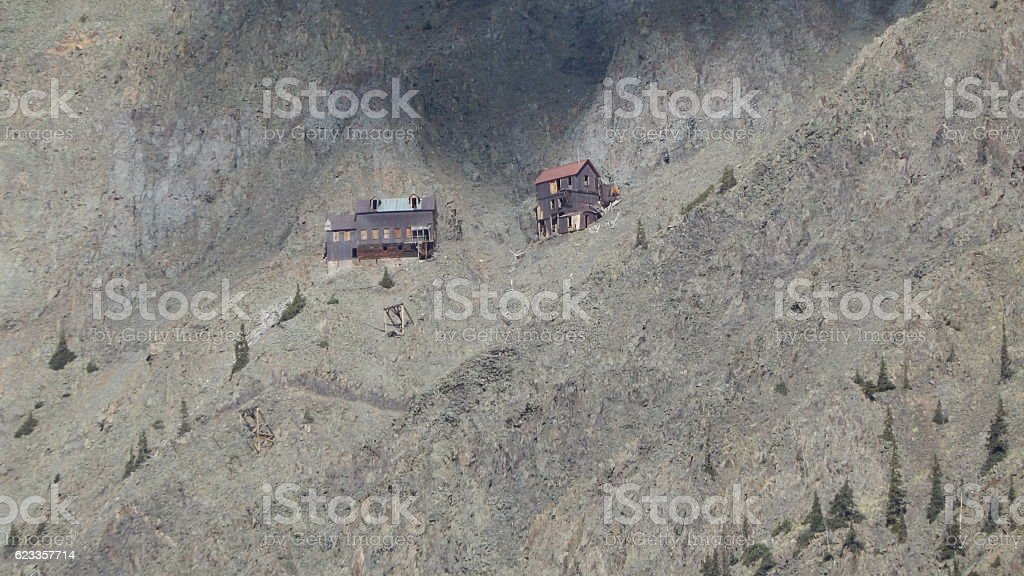 Level Seven Boarding House at the Old Hundred Mine stock photo