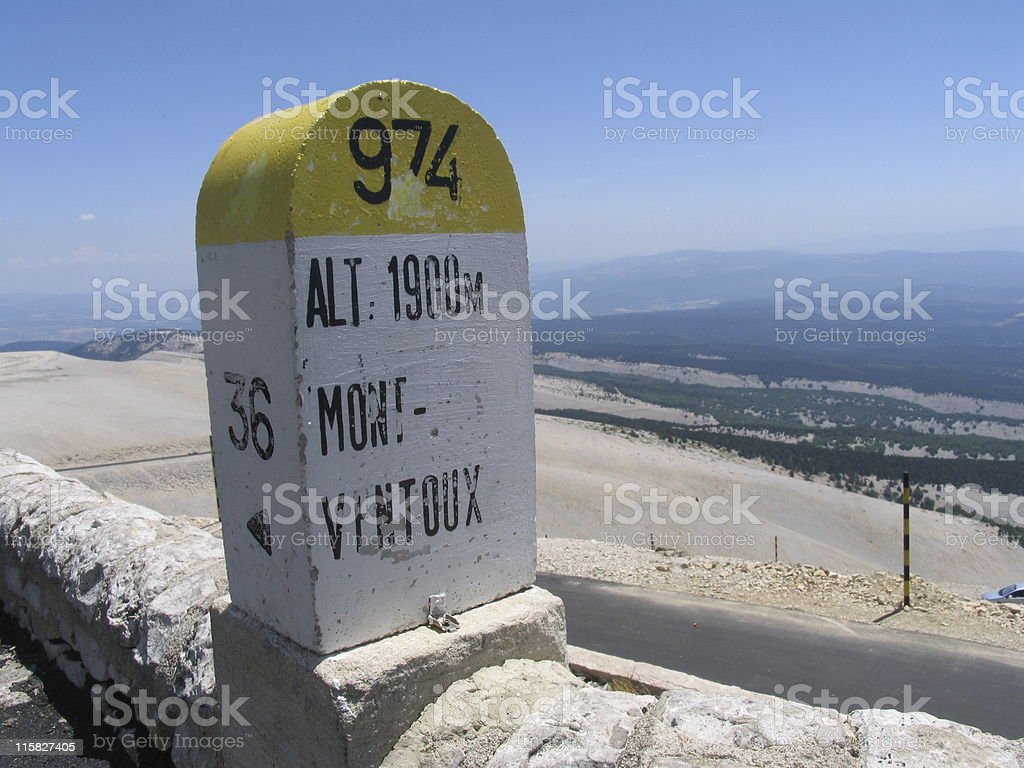 Level stone Mont Ventoux stock photo