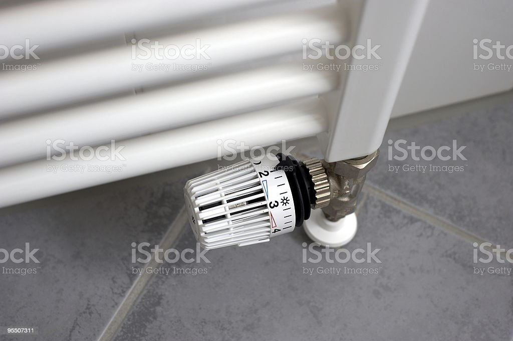 Level two Thermostat royalty-free stock photo