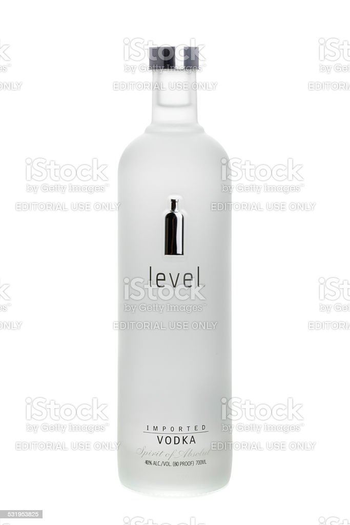 Level Vodka by Absolut stock photo
