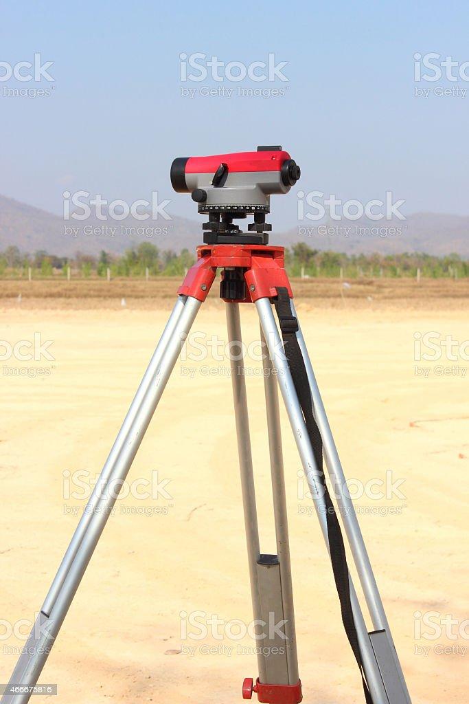 Level-measuring instrument. stock photo
