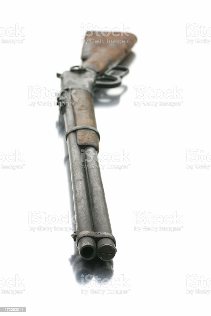 Lever Action Rifle - Barrel Selective Focus royalty-free stock photo