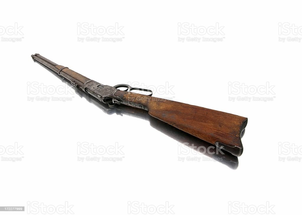 Lever Action Rifle - Magazine Side royalty-free stock photo