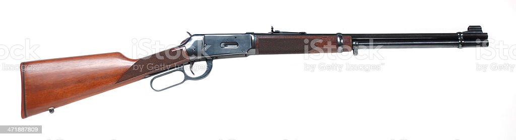 Lever Action Rifle royalty-free stock photo