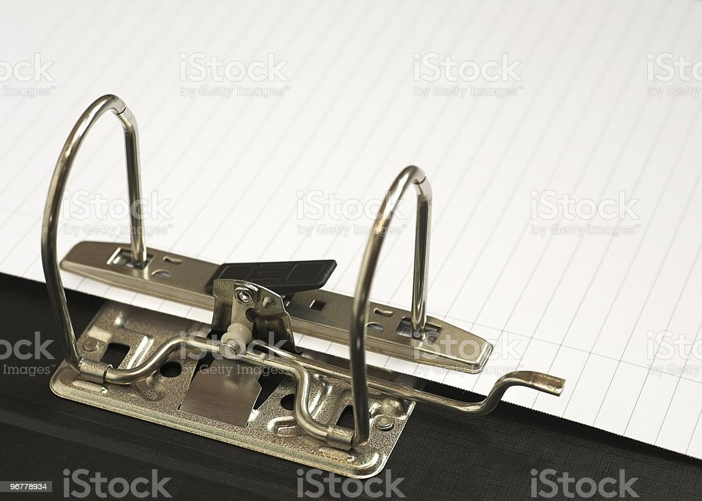 Lever Arch File royalty-free stock photo