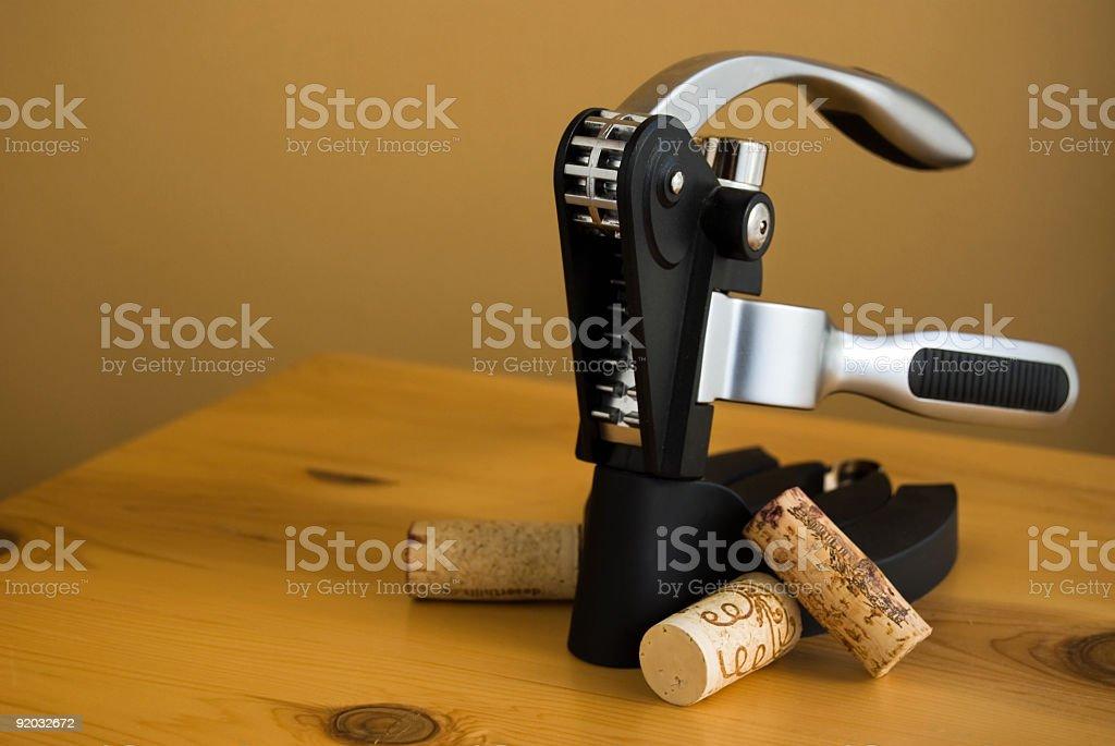 Lever corkscrew stock photo